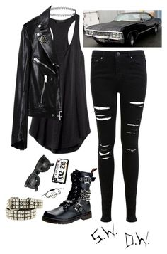 """67' Chevy Impala"" by little-eleanor-directioner ❤ liked on Polyvore featuring Demonia, Miss Selfridge, Yves Saint Laurent, Ray-Ban and Topshop"