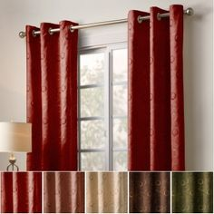 Veratex Lunetta Grommet Window Panel in Brick Double Curtains, Grommet Curtains, Drapes Curtains, Bedroom Curtains, Blinds For Windows, Window Panels, Window Coverings, Spare Bedroom Office, Master Bedroom
