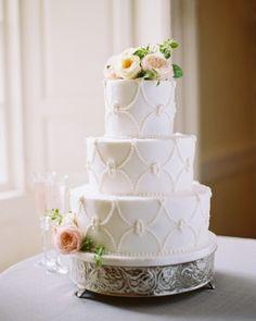 The Best Wedding Cakes of 2014 - Cakes - Martha Stewart Weddings Amazing Wedding Cakes, Unique Wedding Cakes, Wedding Cake Designs, Wedding Cake Toppers, Floral Wedding Cakes, White Wedding Cakes, Lace Wedding, Floral Cake, Purple Wedding
