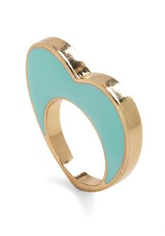 I Heart You Ring -- Do your accessories need a little more love? Take heart with this golden, heart-shaped ring! This baby blue enamel heart is set in gleaming gold that stands out and makes your heart skip a beat.