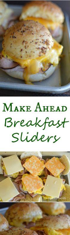 Make ahead breakfast sliders~