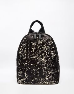 Lulu Guinness Backpack in Satin with Floor Print