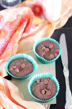 easy nutella brownie cups
