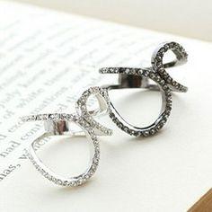 細品奢華 柔美線條鑲鑽 戒指