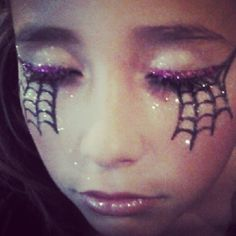 The face painting I did this Halloween for Mariah. She turned out to be a pretty little witch.
