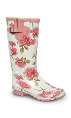 Rose Print Wellies from Fashion Union, £25 (or £18 with a code)