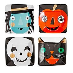 Halloween Character Party Plates (Set of 8) $4.95 | The Land of Nod Halloween 2015