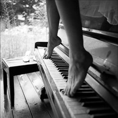 barefeet, black and white, female, legs, music, music for the soul