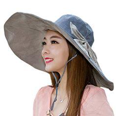 d2be0c4b699 Women s Foldable Floppy Reversible Travel Beach Sun Visor Hat Wide Brim UPF  50+ Review. Mens ...
