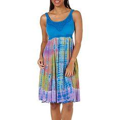Lola P Women's Tie- Dye Print Sleeveless Dress (Markdown Savings)