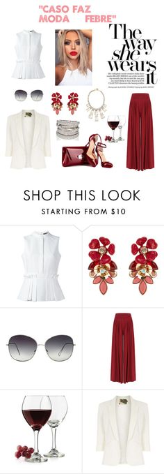 """""""OFICIAL SET LOGO GRUPO !!"""" by daianetavares310 on Polyvore featuring moda, Alexander McQueen, Accessorize, Oliver Peoples, Libbey, Jolie Moi e Kate Spade"""
