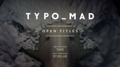 TypoMad is an event about typography held this year in Madrid . They trusted us to produce the Opening Credits. Our purpose was to capture as sketching on paper how a typography becomes something solid, all through this metaphor of evolution. Abstractly alluding to beziers lines, ink and the definition of a new creation.  www.tavo.es | www.facebook.com/tavostudio | www.echolab.tv | www.typomad.com  Director, Animation & Design TAVO Music & Sound design ECHOLAB Client TYPOMAD