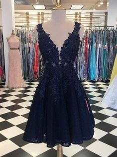 Discount Magnificent V Neck Homecoming Dress Elegant A-line Deep V-neck Lace Homecoming Dresses Short Cocktail Party Dress Cheap Short Prom Dresses, Hoco Dresses, Black Prom Dresses, Party Dresses, Dress Prom, Beach Dresses, Dance Dresses, Occasion Dresses, Evening Dresses