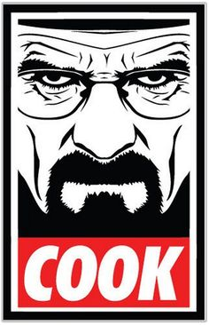 """Obey Style, Breaking Bad theme, COOK!"" Stickers by AirbearJones 