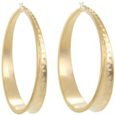LAUREN Ralph Lauren Enlarge Hammered Hoops ($44) ❤ liked on Polyvore featuring jewelry, earrings, accessories, gold, lauren ralph lauren jewelry, snap button jewelry, snap jewelry, lauren ralph lauren and hammered jewelry