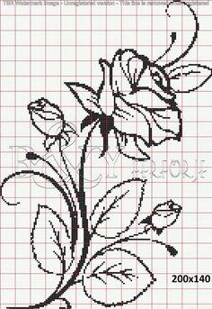 Crochet Patterns Filet Perler Beads New Ideas Beaded Cross Stitch, Cross Stitch Rose, Crochet Cross, Cross Stitch Flowers, Cross Stitch Embroidery, Crochet Patterns Filet, Crochet Chart, Embroidery Patterns, Cross Stitch Designs