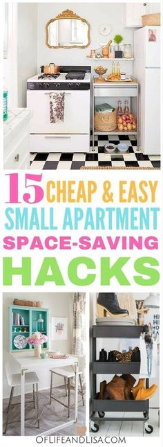 Make your tiny apartment feel huge with these space-saving hacks and organization ideas.
