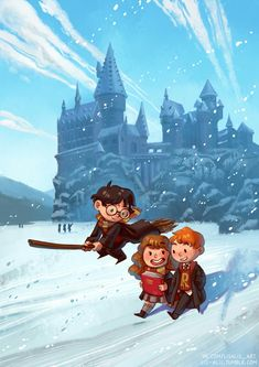 """lis-alis: """"I wanted to draw something new for the Moscow Comics Convention. Harry Potter Wallpaper, Harry Potter Cartoon, Harry Potter Drawings"""