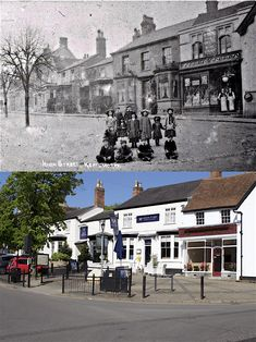This Then & Now pair of photos shows a group of children posing for the camera at the junction of High Street, New Street, Bridge Street and Fieldgate Lane. Street Children, Then And Now Photos, Pose For The Camera, Kid Poses, England And Scotland, Coventry, Old Photos, Abandoned, Past