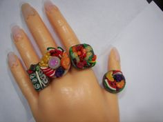 Today is our last sale day!  10% off EvErYthInG in the shop!!!  Check out the new funky rings, and use code greenchic1 when you check out!  Custom requests welcome.  (c:  Thanks!  Salad plate ring Polymer clay vegetables by greenchicliz, $18.50