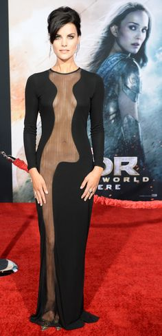 Jaimie Alexander, pictured, plays Jane Doe in Blindspot. She has previously starred in Sci. Jaimie Alexander, Jessica De Gouw, Beautiful Celebrities, Gorgeous Women, Beautiful People, In China, Alessandra Ambrosio, Long Sleeve Gown, Full Length Gowns