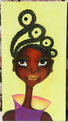 "Black Art: ""Dziko"" Original African Art"