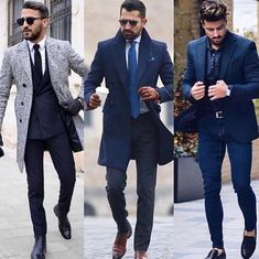 Mens Fashion Smart – The World of Mens Fashion Trendy Mens Fashion, Mens Fashion Suits, Stylish Men, Mens Suits, Fashion Outfits, Blazer Outfits Men, Moda Formal, Men With Street Style, Mens Style Guide