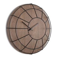 Add retro design to the home with this Cage wall clock from Umbra. The clock…