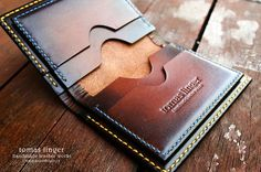 Leather wallet handmade.