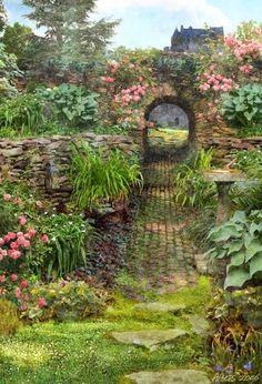 lovely old garden - source: flowersgardenlove