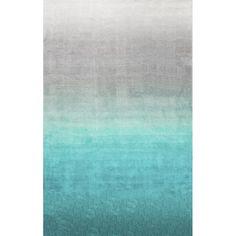 Sivir Hand-Tufted Turquoise Area Rug Nuloom Inc Rug Size: Rectangle 122 x Coastal Area Rugs, Blue Area Rugs, Turquoise Rug, Teal Rug, Polyester Rugs, Contemporary Area Rugs, Modern Rugs, Grey Rugs, Modern Houses