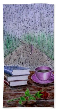 Rainy Morning Hand Towel for Sale by Faye Anastasopoulou Rainy Morning, Fusion Art, Theme Pictures, Large Beach Towels, Ocean Scenes, Pattern Pictures, My Themes, Artist At Work, Hand Towels