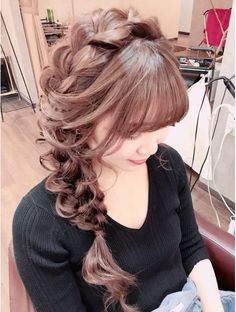 Magic Mush Girly★横編み… – From Parts Unknown Long Hair Braided Hairstyles, Braided Prom Hair, Easy Hairstyles, Kawaii Hairstyles, Retro Hairstyles, Beauty Tips For Hair, Hair Beauty, Hair Arrange, Japanese Hairstyle