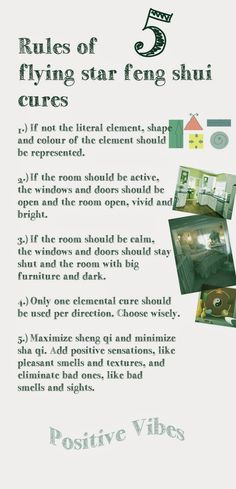 Chinese Bazi 10 Element Theory Blog: 5 Flying Star Feng Shui Cure Rules