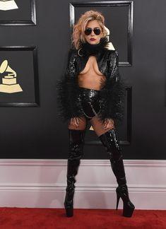 La cantante Lady Gaga llega a la gala.