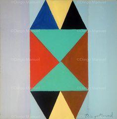 """""""Encuentro"""" , acrylic on canvas, 41 x 40 cm,2013 . By Diego Manuel"""