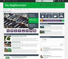[Muro de actividad. Red social Corporativa] . Raglan Housing Intranet - The Neighbourhood