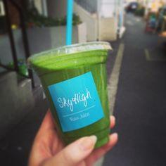 やっぱりここのgreenが一番好き! #渋谷 #smoothie #skyhigh #green smoothie,#skyhigh,#渋谷,#green
