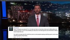 Jimmy Kimmel took a swipe at game streaming and it hilariously backfired