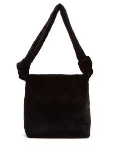 The Row Wander small mink-fur shoulder bag