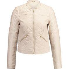 Noisy May NMROSA Kurtka ze skóry ekologicznej oatmeal Oatmeal, Leather Jacket, Boho, Jackets, Fashion, The Oatmeal, Studded Leather Jacket, Down Jackets, Moda