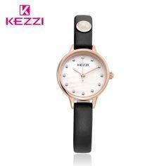 Kezzi Top Brand Women Dress Watches  Waterproof Leather Strap Fashion Quartz Watch Student Wristwatches Ladies Hours k-1498