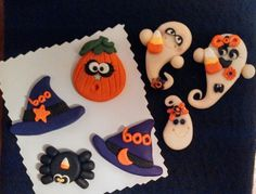 Polymer clay Halloween bow centers/charms 2014