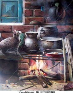 fogones de leña en dibujo - Buscar con Google Miguel Angel, Conceptual Art, Fractals, Still Life, Quilt Patterns, Decoupage, Art Gallery, Painting, Vintage