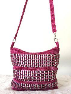 Pink Crochet Soda Tab Purse