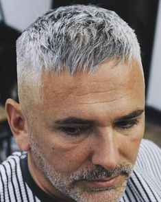 This textured Caesar crop is a stylish men's haircut for thinning hair. It makes… This textured Caesar crop is a stylish men's haircut for thinning hair. It makes hair appear thicker and covers a receding hairline. Short Haircuts For Older Men, Haircuts For Balding Men, Stylish Mens Haircuts, Thin Hair Haircuts, Cool Haircuts, Hairstyles Haircuts, Short Hair Cuts, Cool Hairstyles, Short Hair Styles