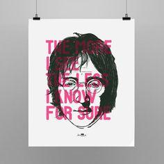 Poster inspirado na música Borrowed Time de John Lennon. 55x66cm  Shop: http://locomattive.com.br