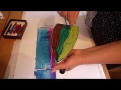 02. Рисование утюгом и воском (энкаустика) - YouTube
