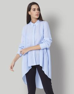 f862c6860e26 Get summer ready in this high low pastel shirt from VERO MODA.