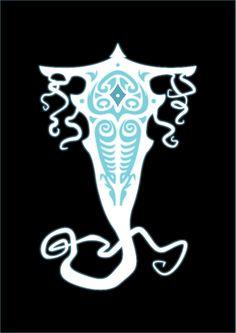 Vectors of the Spirits Raava & Vaatu from the second season of The Legend of Korra
